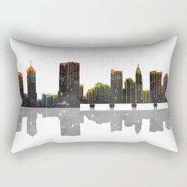 Columbus Skyline BW Rectangular Pillow