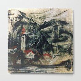 Unsleeping Metal Print