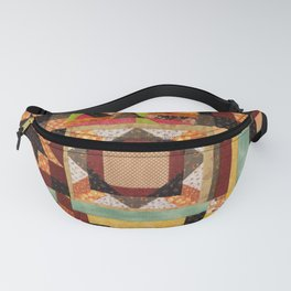 Quilt, Fall Colored Quilt Pattern Fanny Pack