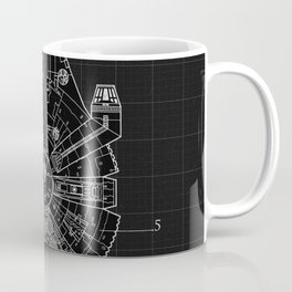 Millennium Falcon Blueprint Coffee Mug