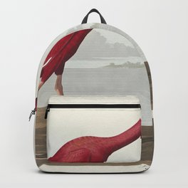 Scarlet Ibis from Birds of America (1827) by John James Audubon (1785 - 1851 ) etched by Robert Havell (1793 - 1878) Backpack