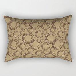 Coffee Circles Rectangular Pillow