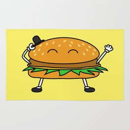 Burger with Hat Rug