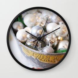 Christmas Ornaments Wall Clock