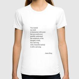 sad song T-shirt