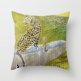 Somewhere in Africa Throw Pillow