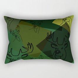 Buck Collage Rectangular Pillow