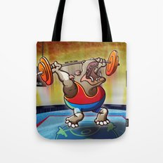 Olympic Weightlifting Hippopotamus Tote Bag