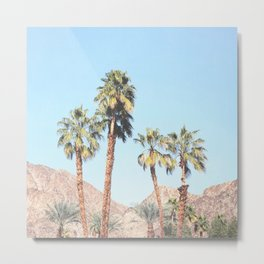 Palm Tree Desert Metal Print