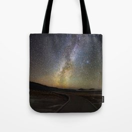 Grand Prismatic Spring Under The Milky Way Tote Bag
