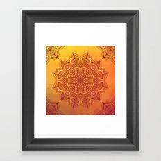 Orange Mandala Framed Art Print