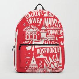 Turkey Town Merchandise Typhography Landmark Souvenir Backpack