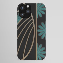 ART DECO FLOWERS (abstract) iPhone Case