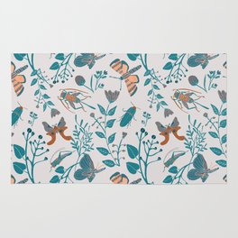 Insects and Moths Frolicking in the Day Rug