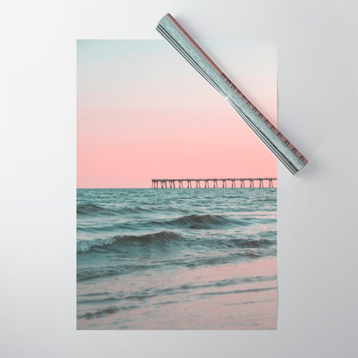 Pink Ocean Wrapping Paper