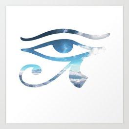 Eye of Horus Sky Background Art Print