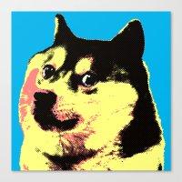 doge Canvas Prints featuring Doge Pop by Julien