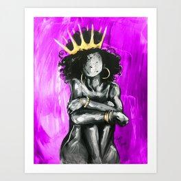 Naturally Queen IX PINK Art Print