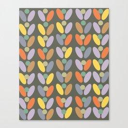 60's retro pattern Canvas Print
