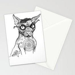 Tattoo cat Stationery Cards