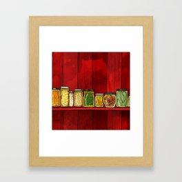 Pickling Framed Art Print
