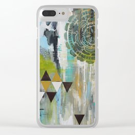 Mindful Past Clear iPhone Case
