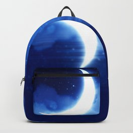 Crescent Moon over blue Starry Sky Backpack
