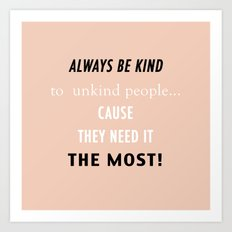 Visual Ponderland ' BE KIND' Art Print