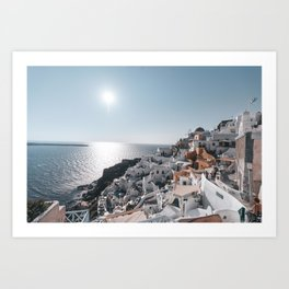 Oia - Santorini, Greece - Jaykob Quintana Art Print