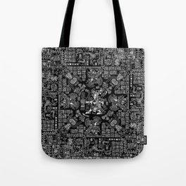Mayan Spring B&W II Tote Bag