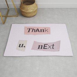 thank you next - Ariana - white Rug