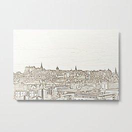 Edinburgh Skyline Metal Print
