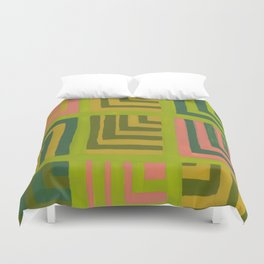 Painted Color Block Squares Duvet Cover