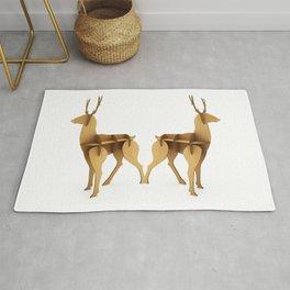 Stylized 3D model of a deer. Rug