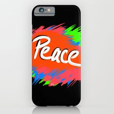 Peace (retro neon 80's style) iPhone 6s Slim Case