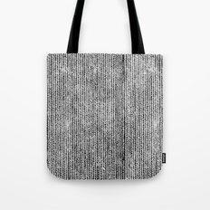 Stockinette Black Tote Bag