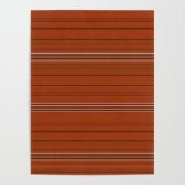 Rust Orange Stripes Poster