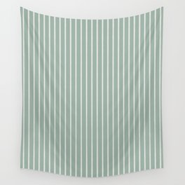 Nautical Handdrawn Stripes - Green Wall Tapestry