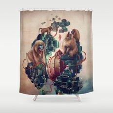 monkey temple Shower Curtain