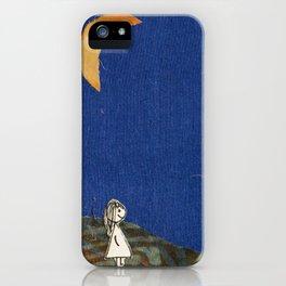 Walking through dusk iPhone Case