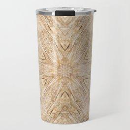 Petrified Wood Kaleidoscope Travel Mug