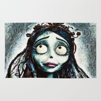 bride Area & Throw Rugs featuring Corpse Bride by Joe Misrasi