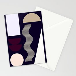 Big Graphic Shapes Muted Stationery Cards