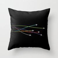 plane Throw Pillows featuring Plane by George Hatzis