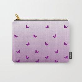 Purple Butterflies Carry-All Pouch