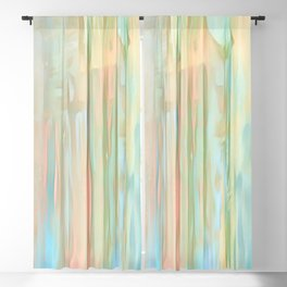 Streaks Of Colors Abstract - Pastel Blackout Curtain