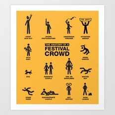 The Anatomy of a Festival Crowd Art Print