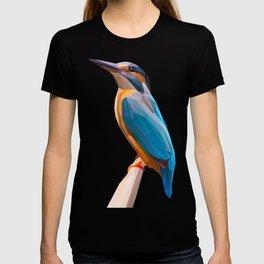 Kingfisher Bird Lowpoly Art Illustration T-shirt