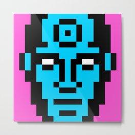 Dr. Manhattan Pixel Portrait Metal Print