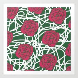 ROSE SQUIGGLE Art Print